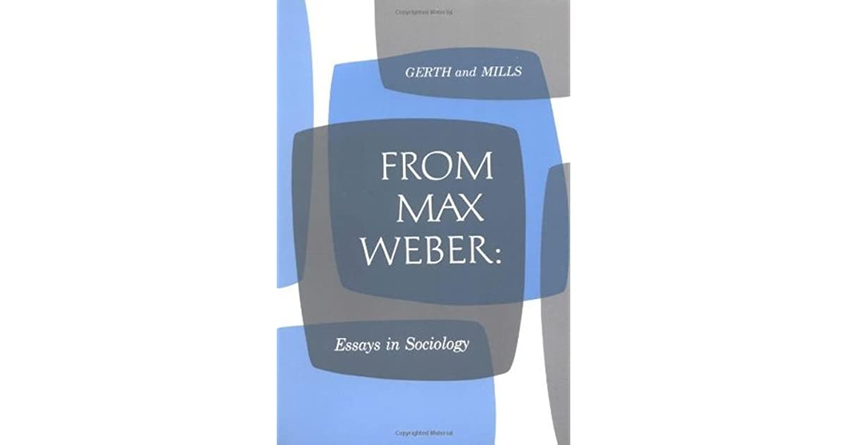 Weber essays in sociology
