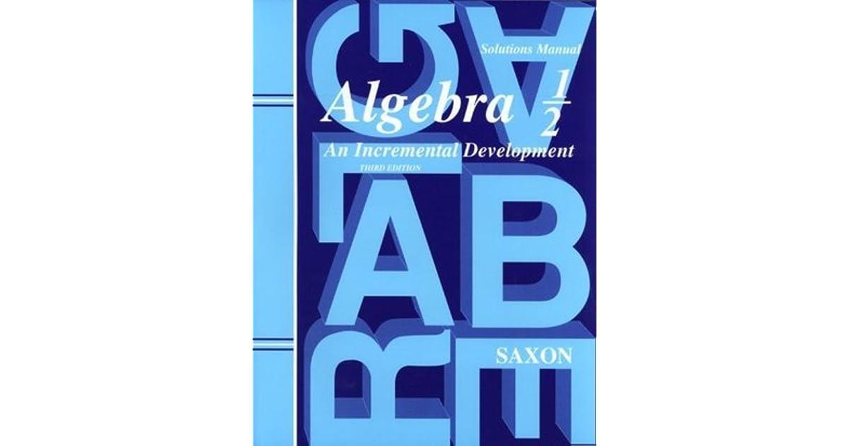 Algebra 2 An Incremental Development