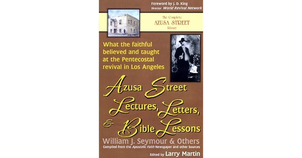 Azusa Street Lectures, Letters and Bible Lessons: What the