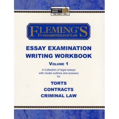 Online Will Writing Services Any Good Flemings Fundamentals Of Law Essay Examination Writing Workbook  Vol   By Jeff Alan Fleming Definition Essay Paper also Examples Of A Thesis Statement For A Narrative Essay Flemings Fundamentals Of Law Essay Examination Writing Workbook  English Essay Story