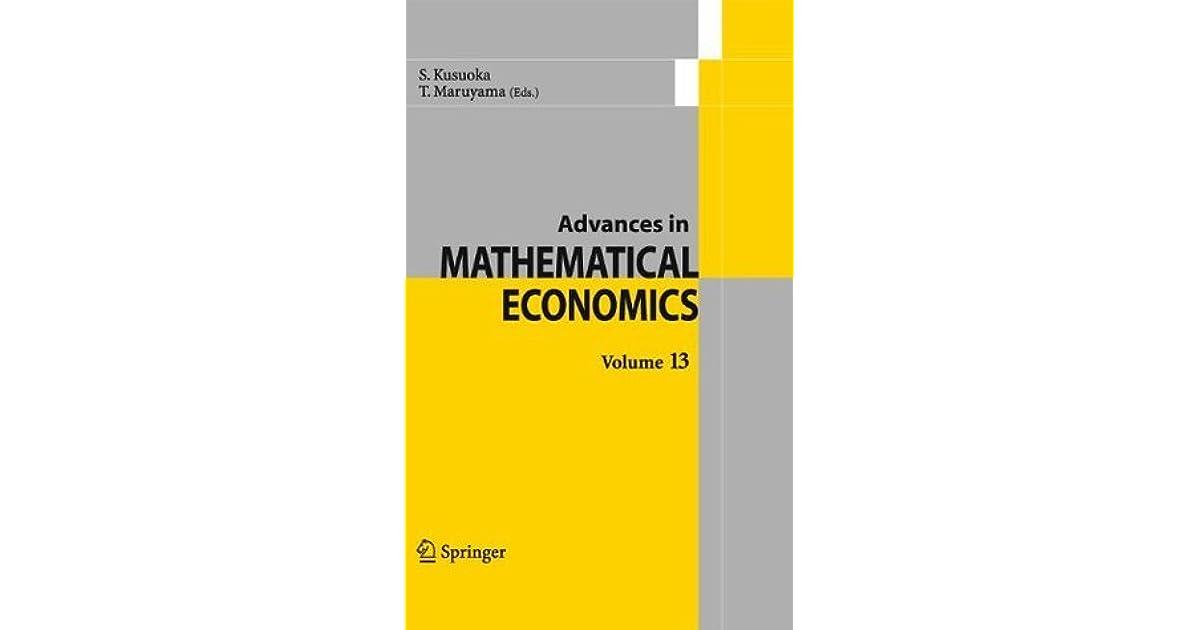 Advances in Mathematical Economics