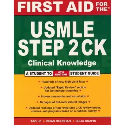 First Aid For The Usmle Step 2 Ck By Tao T Le