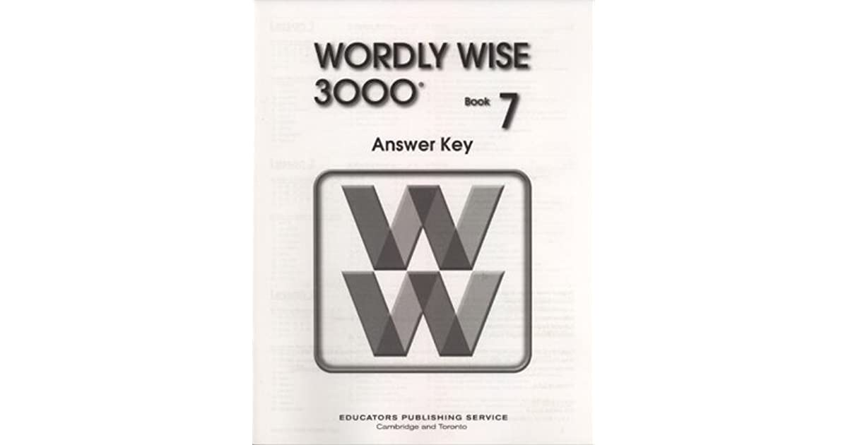 wordly wise 3000 book 7 answers pdf