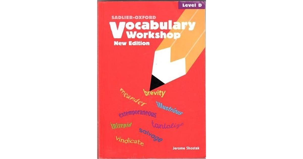 sadlier oxford vocabulary answers level d