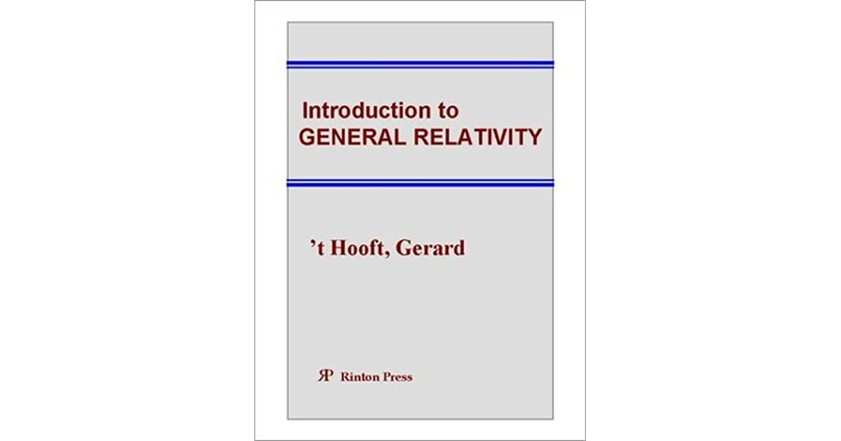 introduction to general relativity pdf