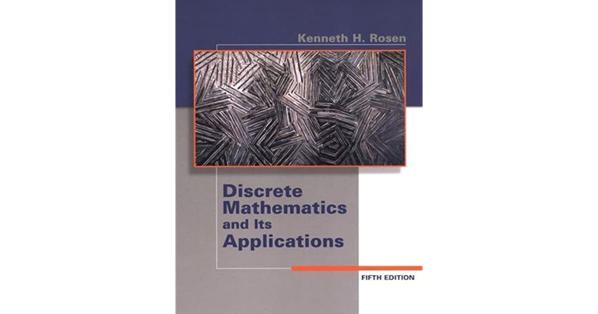 Discrete Mathematics By Kenneth Rosen 6th Edition Pdf