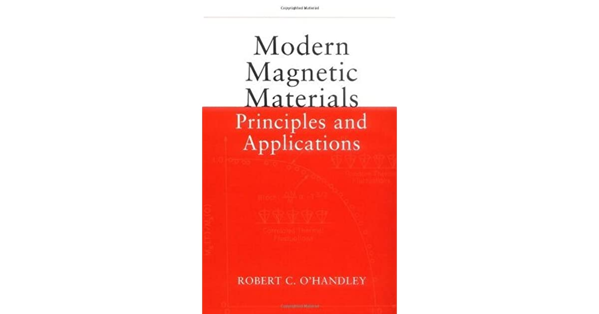 modern magnetic materials principles and applications pdf free download
