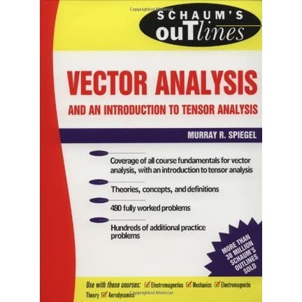 Schaum S Outline Of Vector Analysis By Murray R Spiegel
