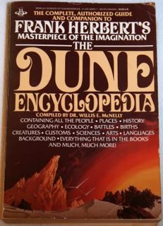 The Dune Encyclopedia by Willis E. McNeilly published in 1984. Interesting and well written, but not vaild.