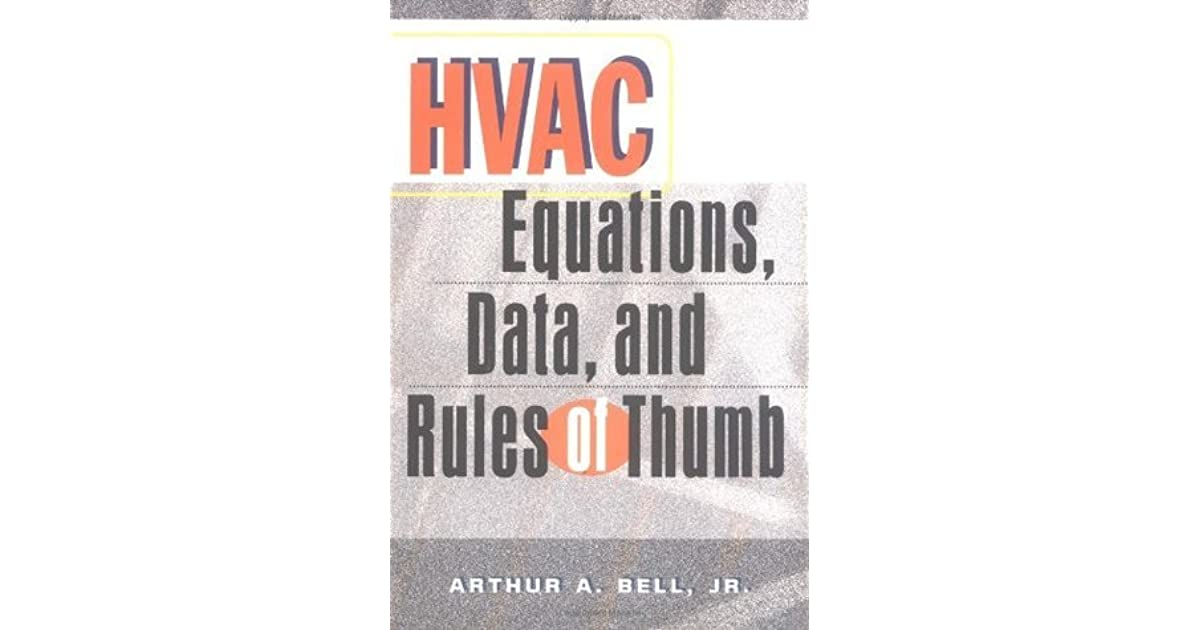 Hvac equations data and rules of thumb by arthur a bell solutioingenieria Image collections