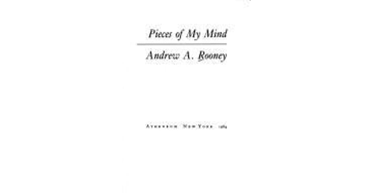 Pieces Of My Mind By Andy Rooney