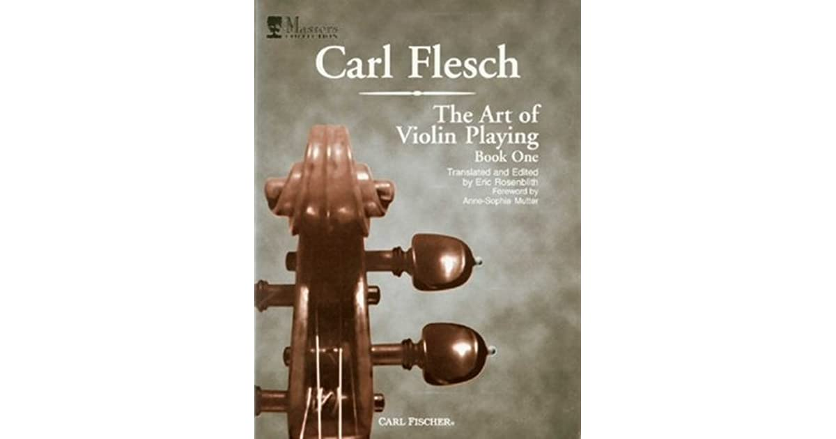 The art violin pdf flesch of carl playing