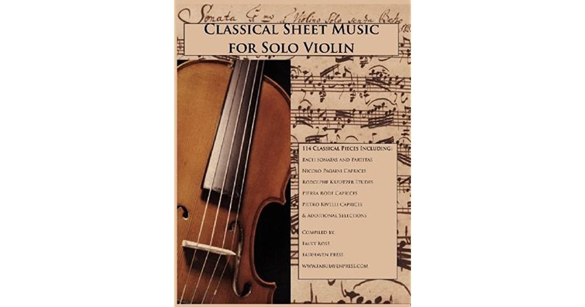 Classical Sheet Music for Solo Violin by Emily Rose