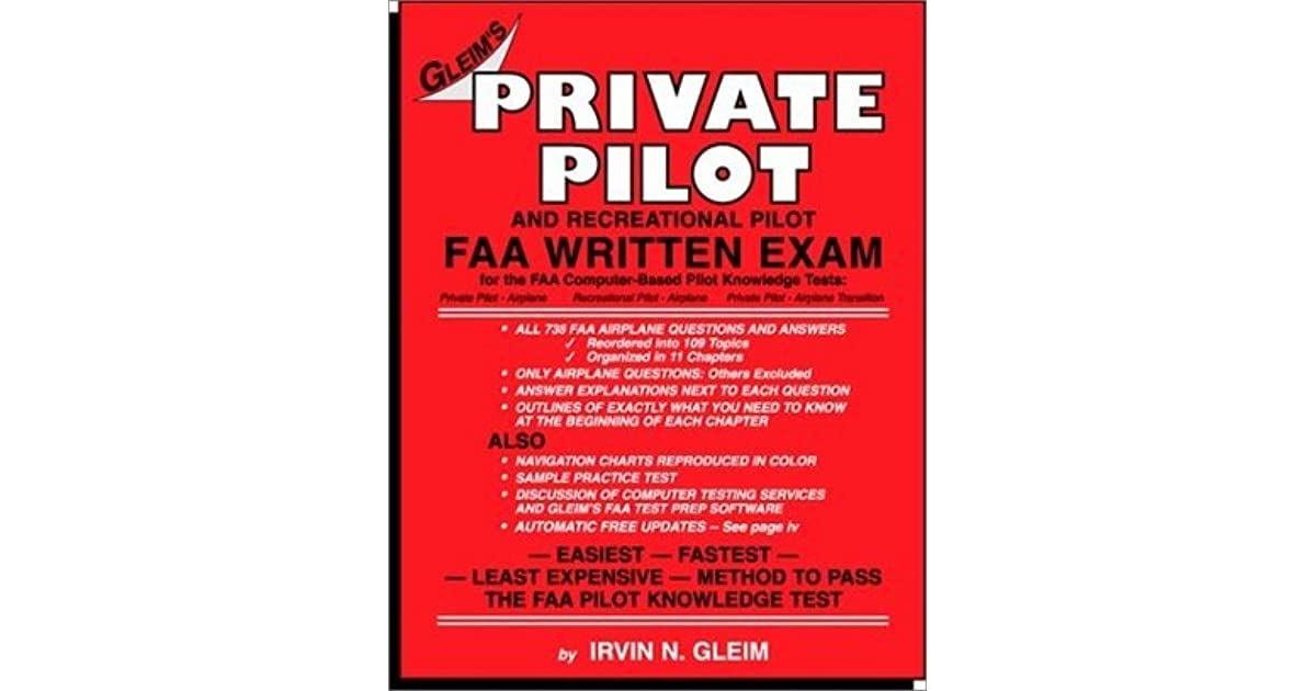 Private Pilot FAA Written Exam by Irvin N  Gleim