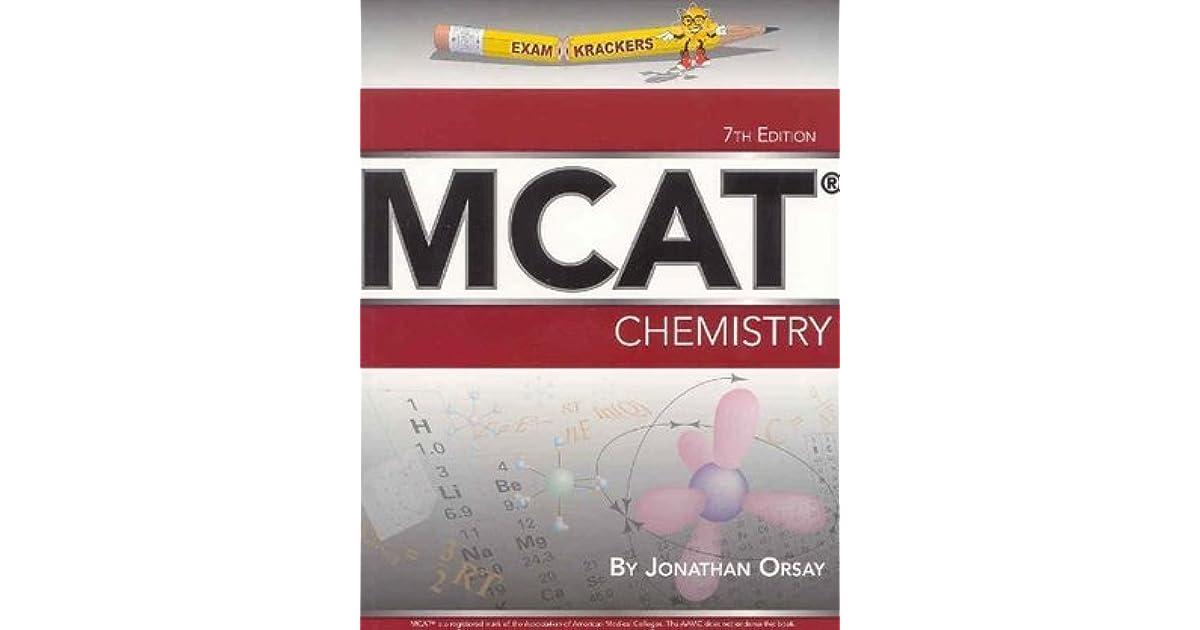 Examkrackers MCAT Chemistry by Jonathan Orsay