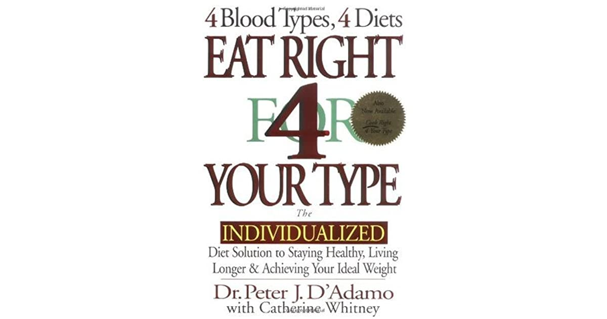 Eat right 4 your type the individualized diet solution to staying eat right 4 your type the individualized diet solution to staying healthy living longer malvernweather Images