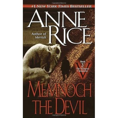 Need help writing my paper memnoch the devil by anne rice