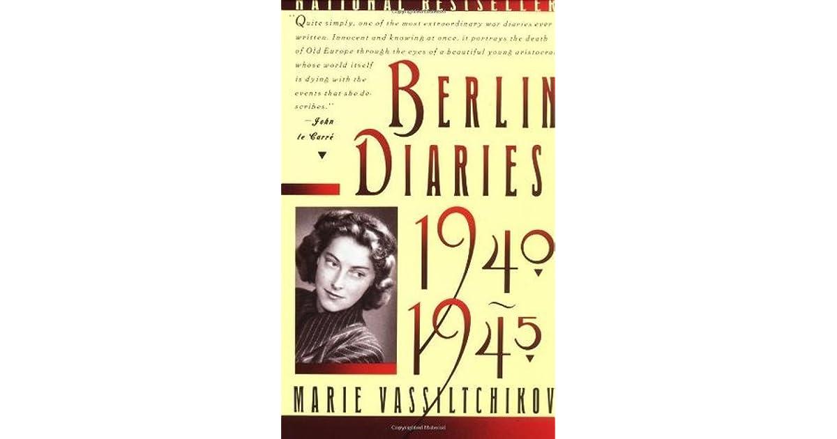 Berlin 1940 vintage 1945 diary