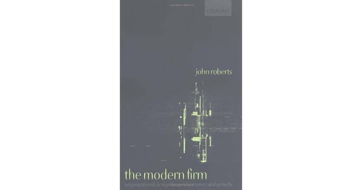 the modern firm roberts john