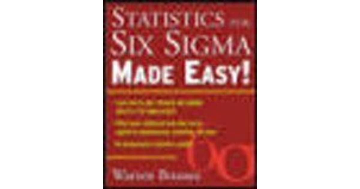 Statistics for six sigma made easy by warren brussee fandeluxe Gallery