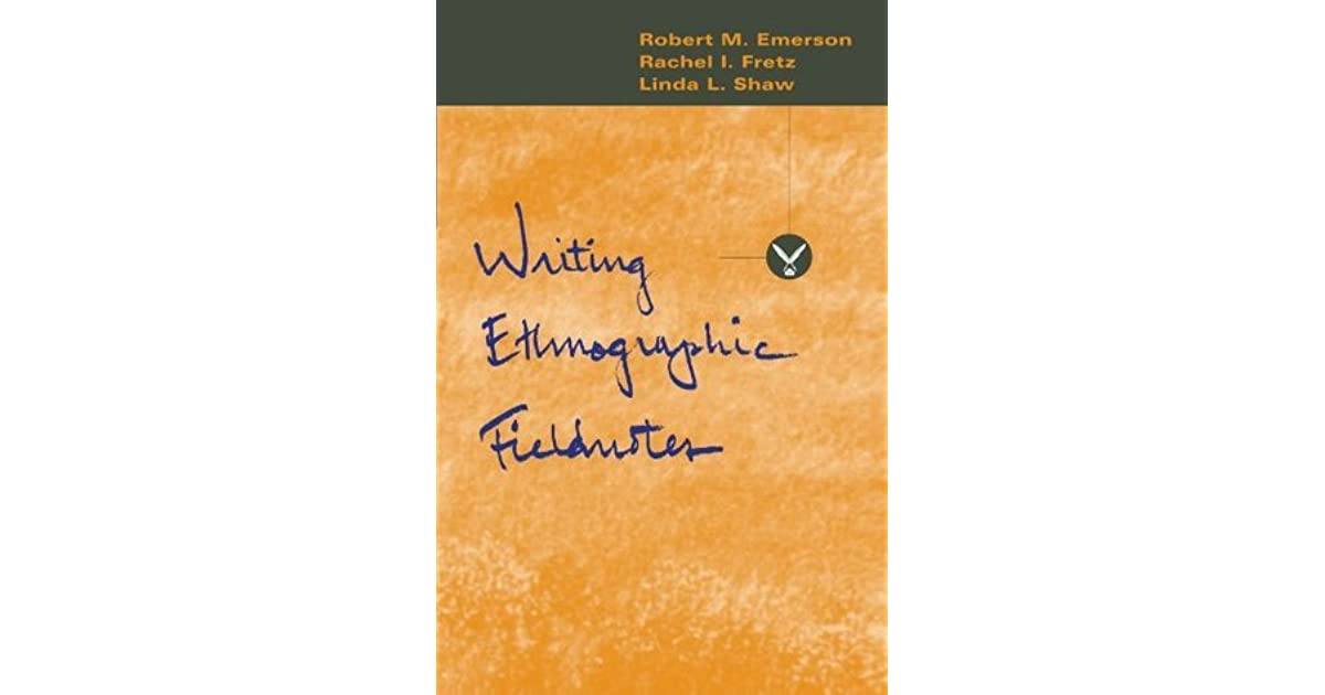 Writing Ethnographic Fieldnotes Pdf