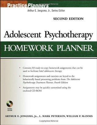 adolescent psychotherapy homework planner