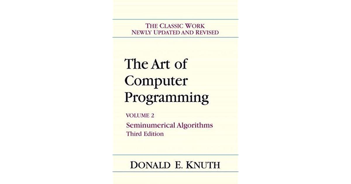 the art of computer programming pdf volume 4