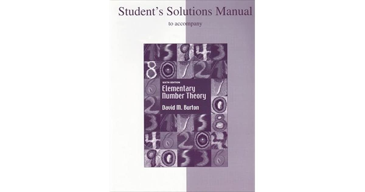 Student Solutions Manual for Elementary Number Theory