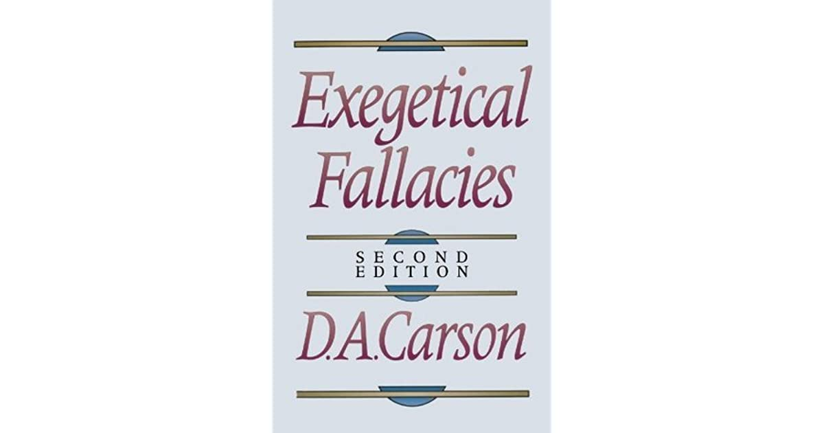 Exegetical Fallacies Carson Pdf
