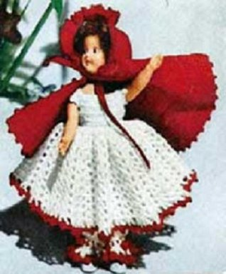 LITTLE RED RIDING HOOD DOLL Vintage 1951 Crochet Pattern - Fairy Tale, Toy...Kindle eBook Download