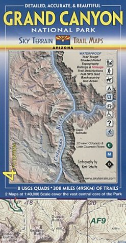 Grand Canyon National Park Sky Terrain Trail Maps By Kent