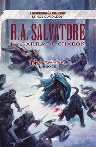 portada de la novela de fantasía épica La garra de Charon, de R. A. Salvatore