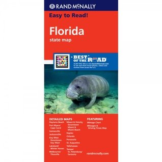 Rand McNally Easy to Read! Florida State Map by Rand McNally ... on brown maps, white maps, united states maps, motorcycle road maps,