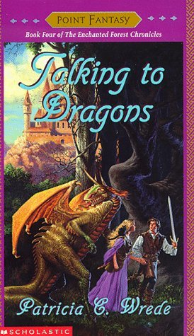"book cover of ""Talking to Dragons"" by Patricia C. Wrede"