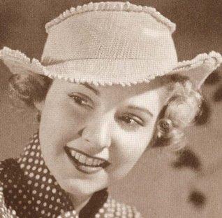 Fringed Hat Fedora Vintage Crochet Pattern EBook Download