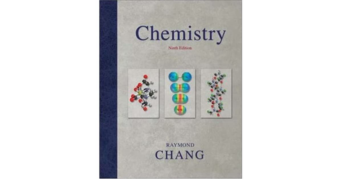 Chemistry By Raymond Chang