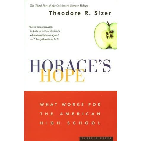 what high school is by theodore r sizer The american desire to improve education has set off a flurry of activity to reform schools in such a climate of restructuring, sizer explores what better secondary schools might look like if indeed they existed his consideration of the improved high school is based on five particular conditions .