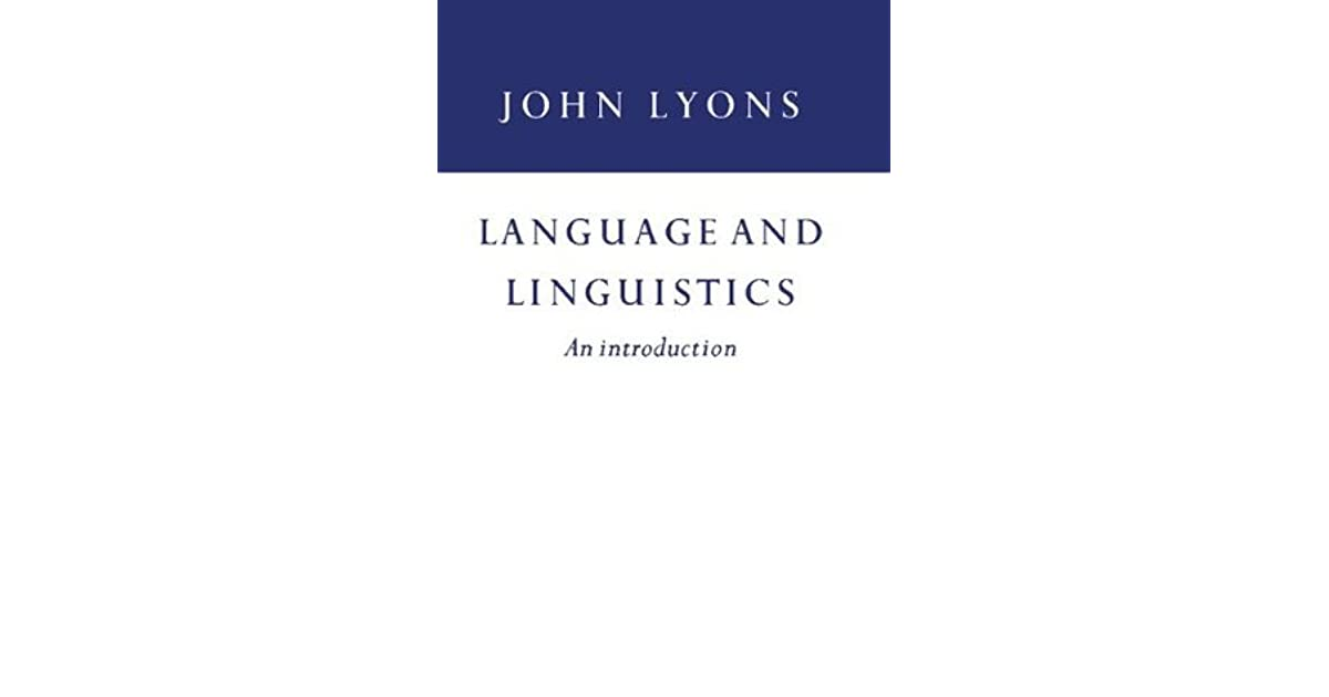 language and linguistics by john lyons pdf free download