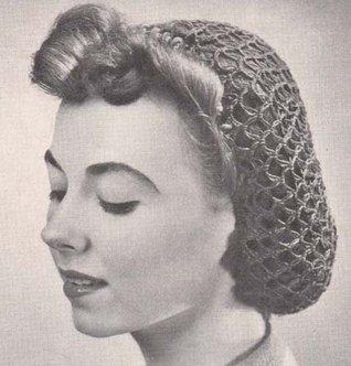 Fishnet Snood Hat Cap Vintage Crochet Pattern EBook Download