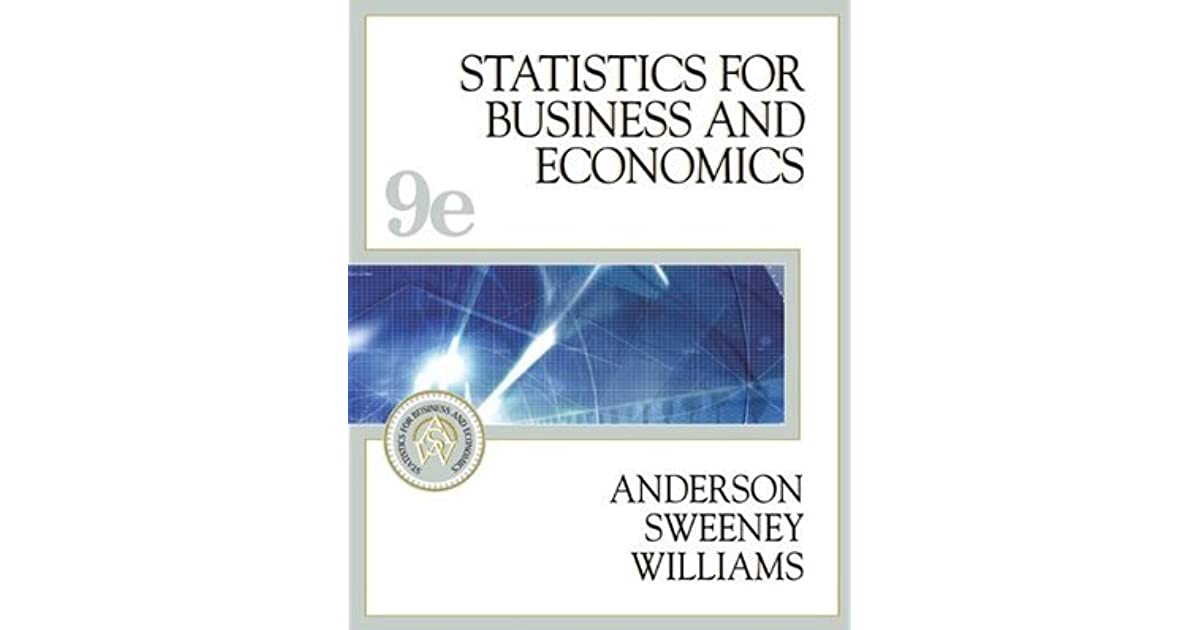 Statistics for business and economics with cd rom and infotrac statistics for business and economics with cd rom and infotrac by david r anderson fandeluxe