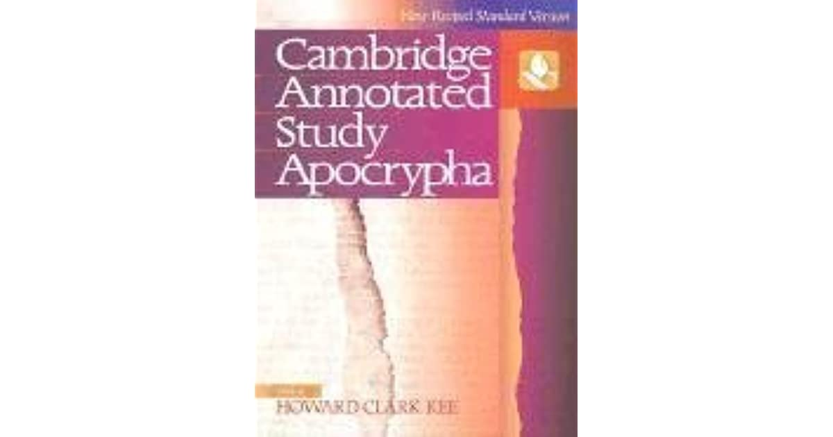 The nrsv cambridge annotated study apocrypha by anonymous fandeluxe Images