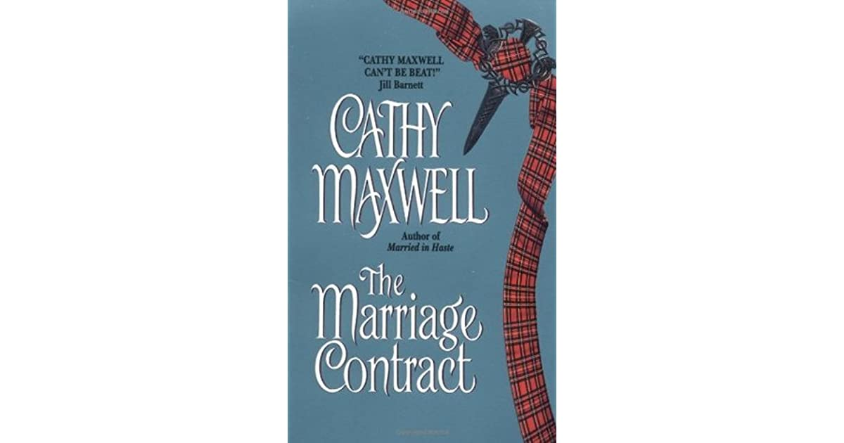 the marriage contract maxwell cathy