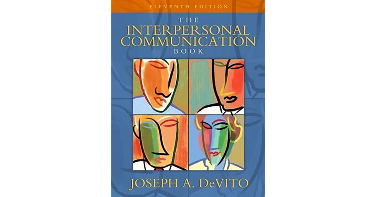 The interpersonal communication book by joseph a devito fandeluxe Gallery