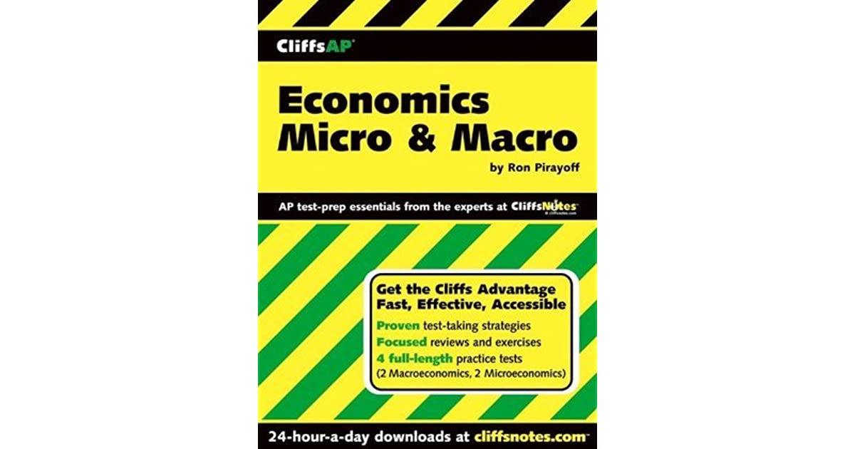 CliffsAP Economics Micro Macro by Ronald Pirayoff