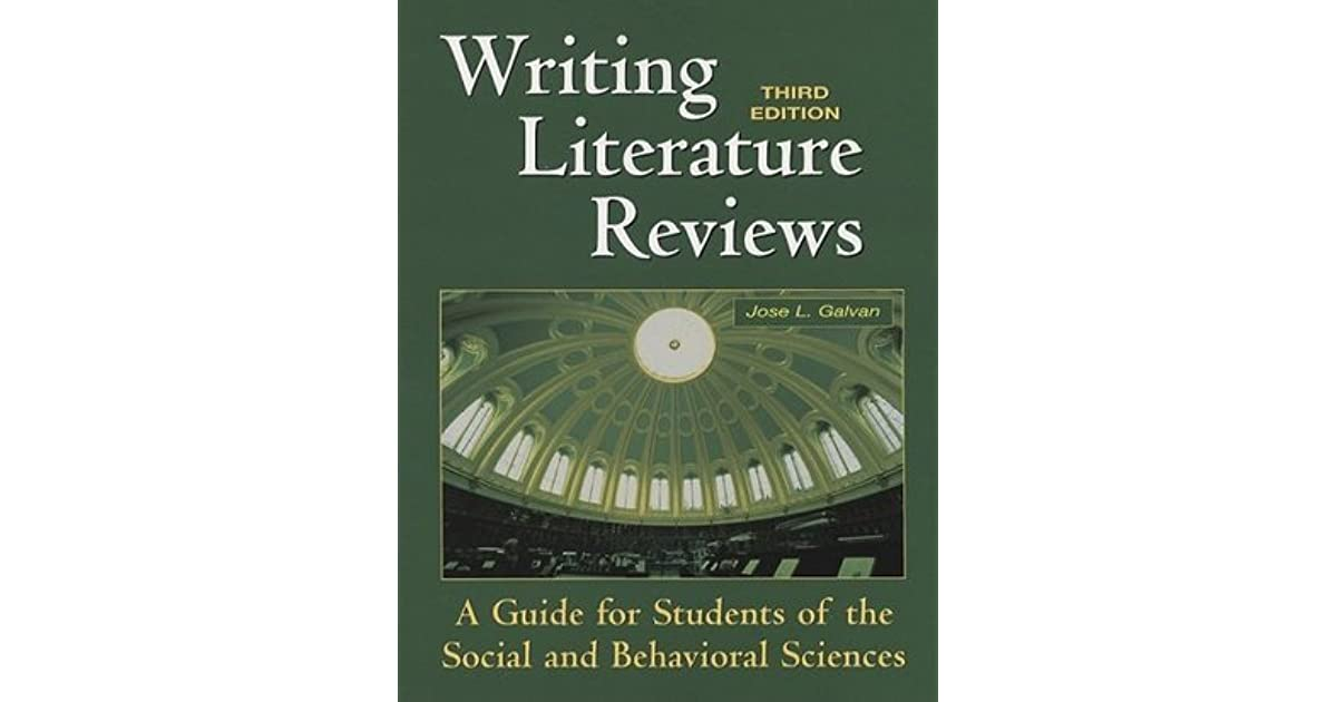 writing literature reviews galvan ebook • guides students in the preparation of literature reviews for term projects, theses, and dissertations routledgecom ebooks are available through vitalsource.
