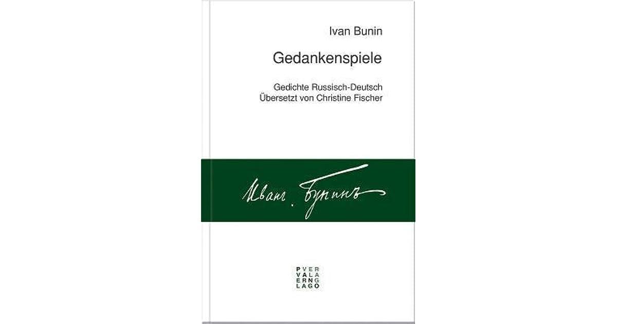 Gedankenspiele Gedichte Russisch Deutsch By Ivan Bunin