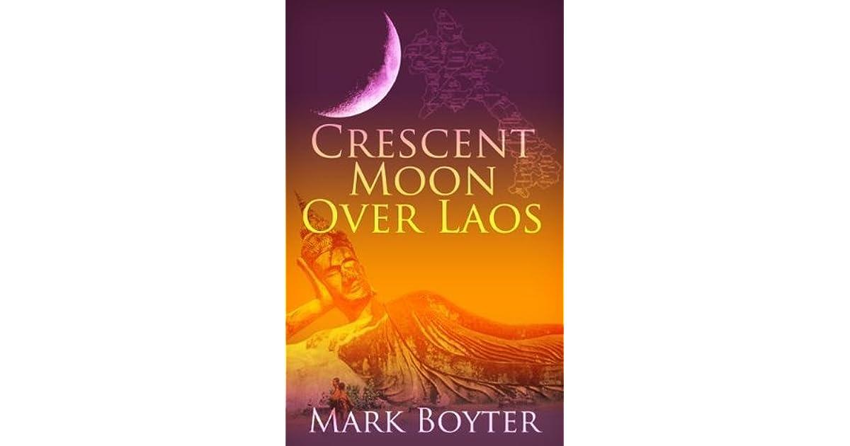 Crescent Moon Over Laos By Mark Boyter border=