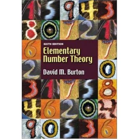 Elementary Number Theory Burton 7th Edition Pdf