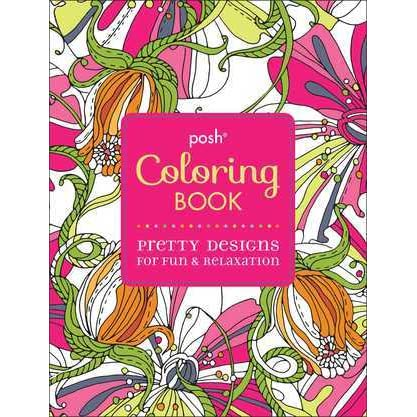 - Posh Adult Coloring Book: Pretty Designs For Fun Relaxation By Michael  O'Mara