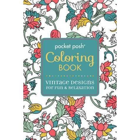 Pocket Posh Adult Coloring Book Vintage Designs For Fun Relaxation By Michael OMara Books